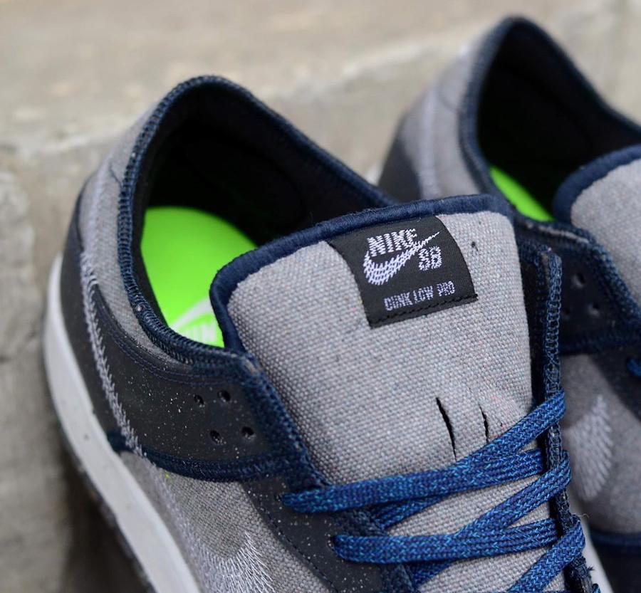 Nike Dunk Low 2020 recyclée grise et bleue (3)
