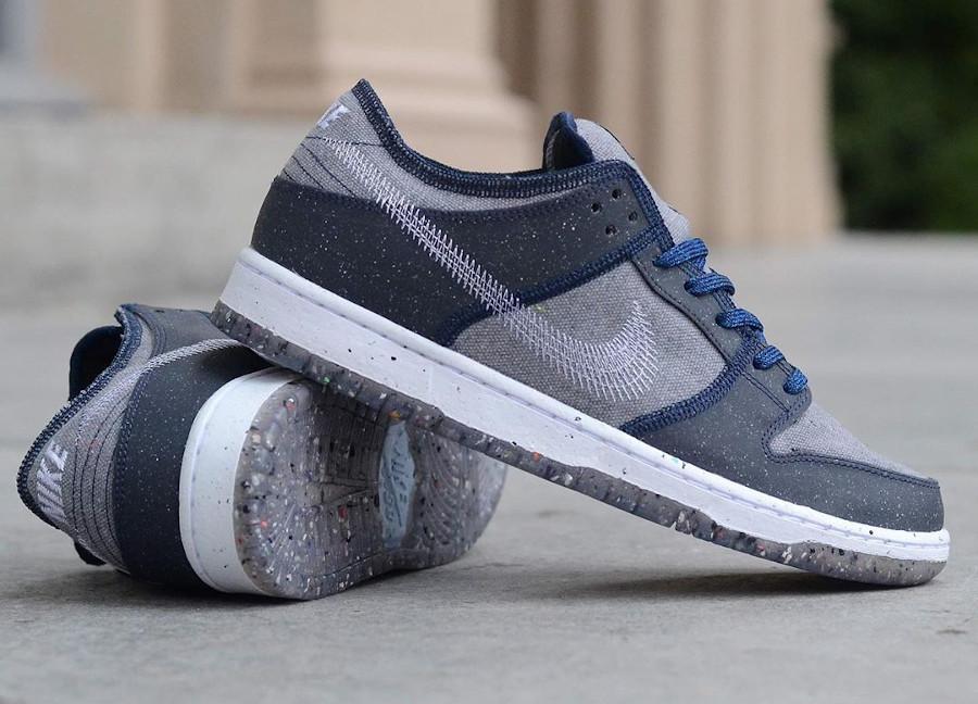 Nike Dunk Low 2020 recyclée grise et bleue (4)