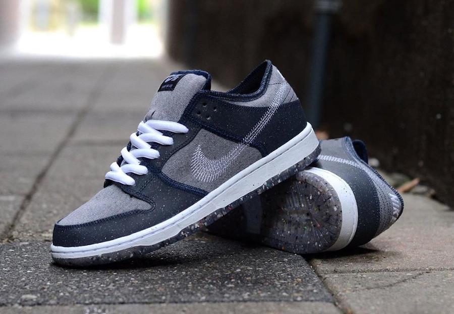 Nike Dunk Low 2020 recyclée grise et bleue (5)