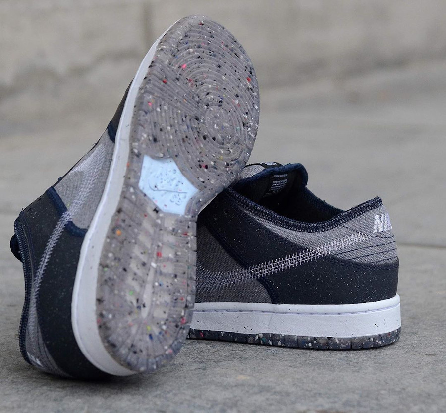 Nike Dunk Low 2020 recyclée grise et bleue (6)