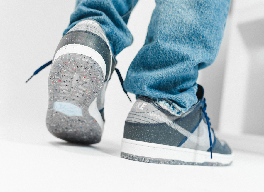 Nike Dunk Low 2020 recyclée grise et bleue (7)