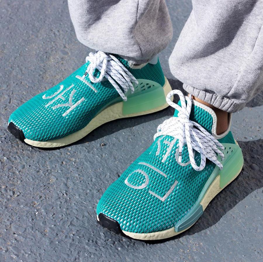 PW x Adidas NMD HU Pharrell Dash Green Q46466