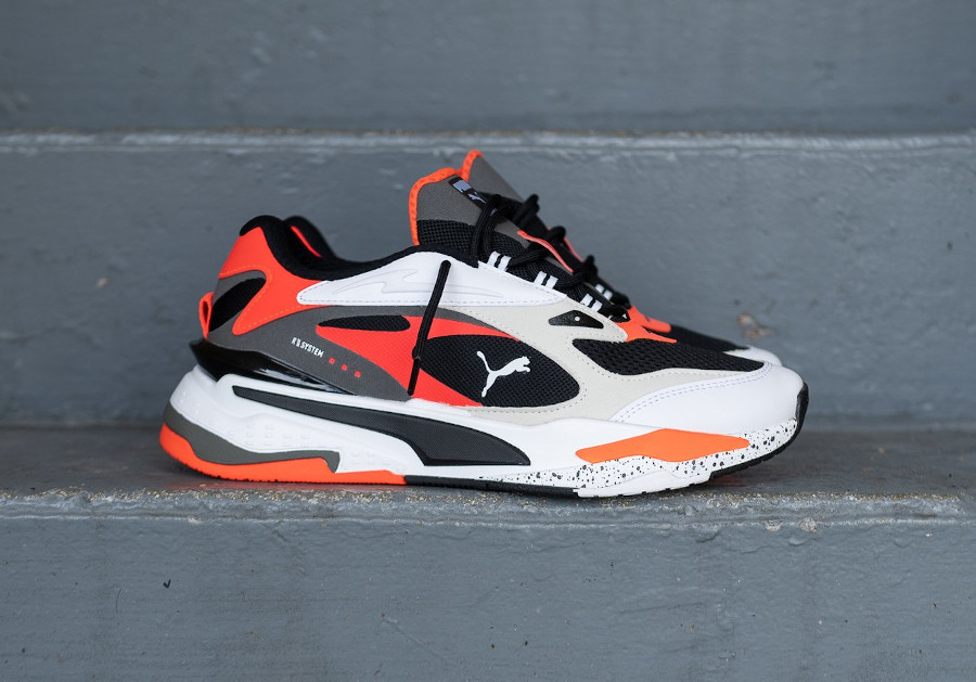 Puma Running System blanche noire et orange (3)