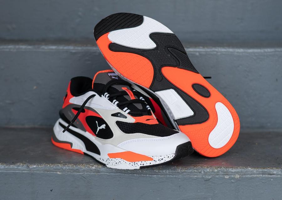 Puma Running System blanche noire et orange (5)