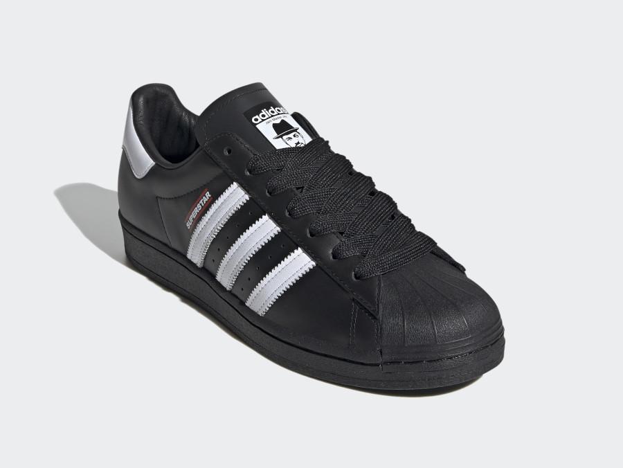 Run DMC x Adidas Superstar 50 Black