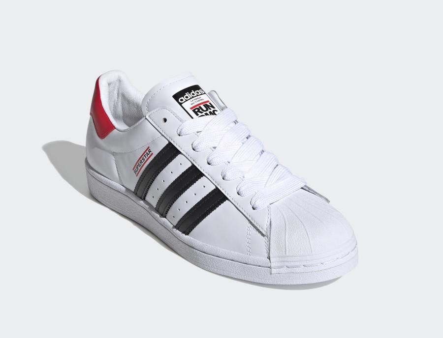 Run DMC x Adidas Superstar 50 White