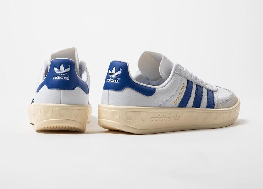 Adidas Barcelona blanche bleue et beige (1)