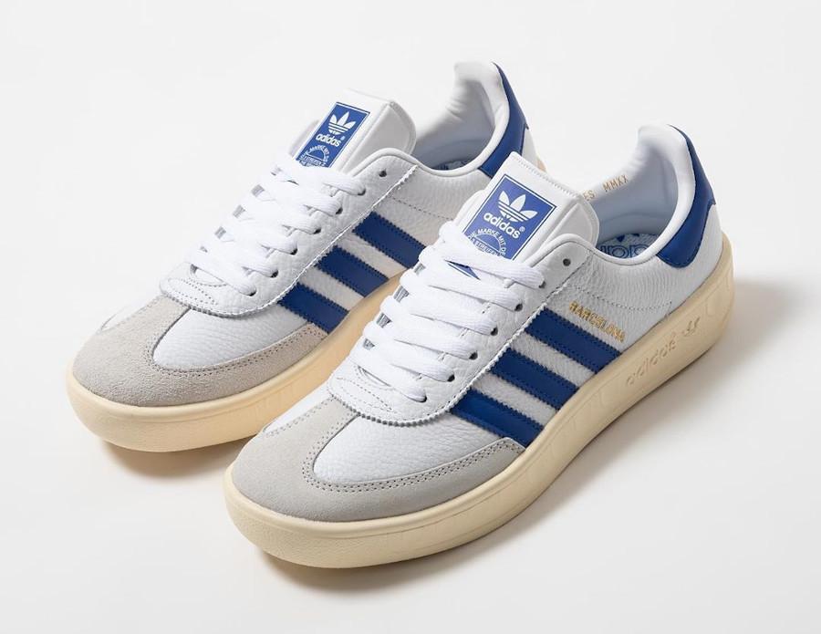 Adidas Barcelona blanche bleue et beige (2)