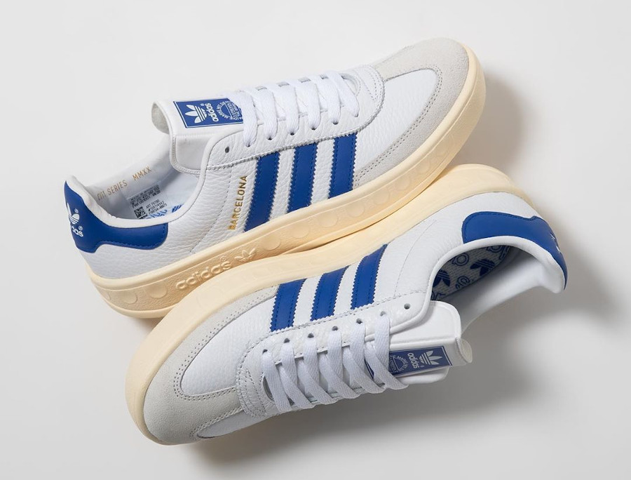 Adidas Barcelona blanche bleue et beige (4)
