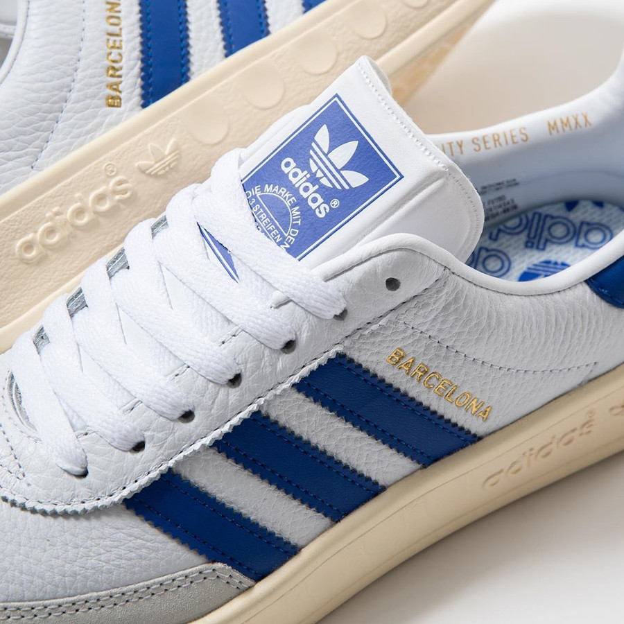 Adidas Barcelona blanche bleue et beige (5)
