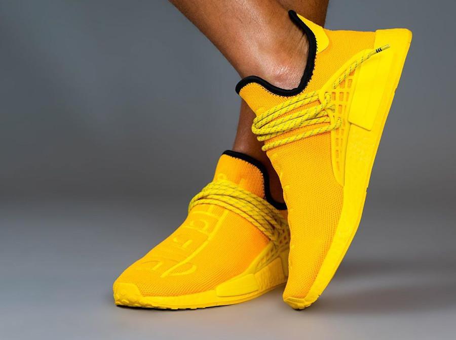 Adidas Human Race 2020 en Primeknit jaune (2)