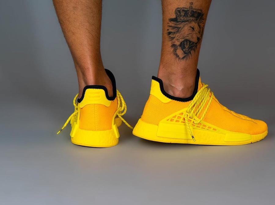 Adidas Human Race 2020 en Primeknit jaune (3)