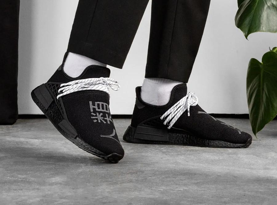 Adidas NMD HU noir caractères chinois (6)