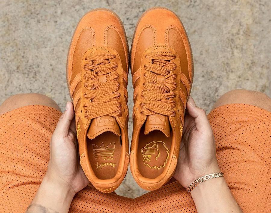 Adidas Samba JH orange FX147 (1)
