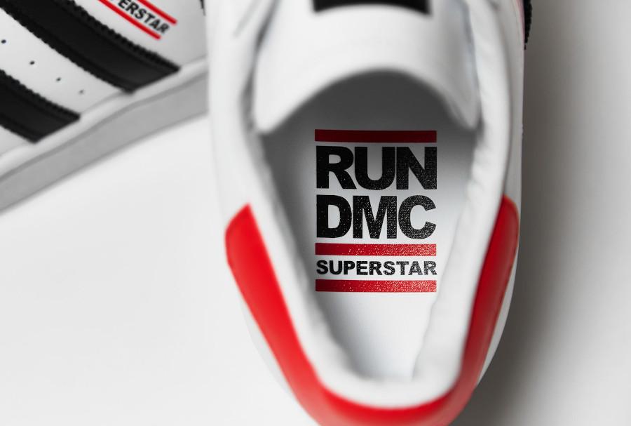 Adidas Superstar 80's run d mc blanche noire et rouge (1)