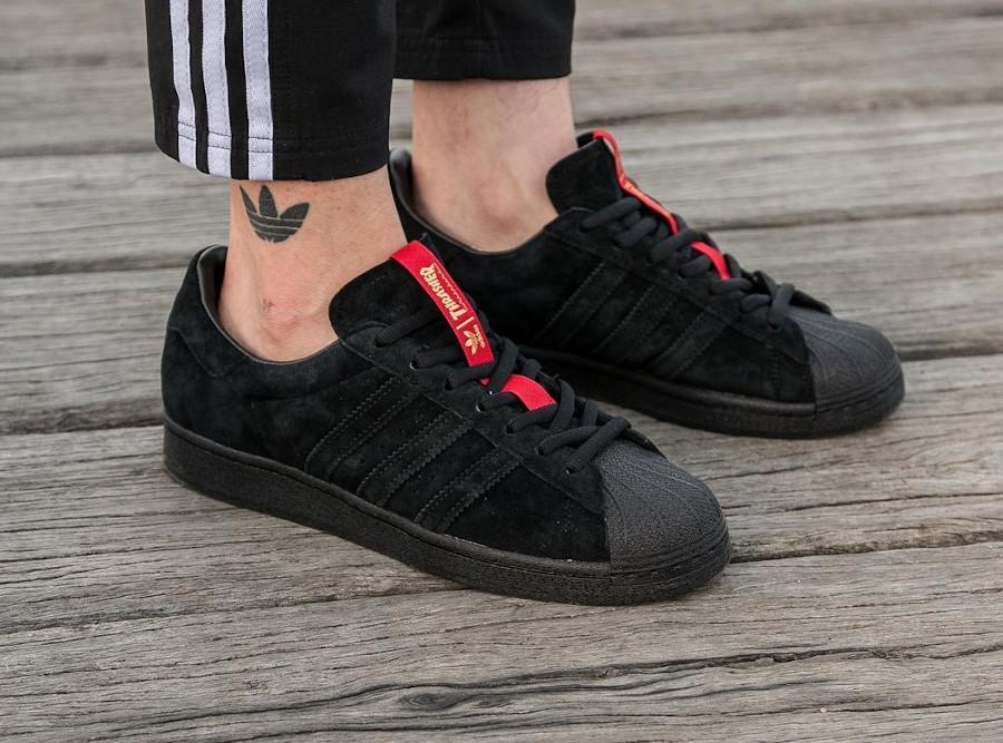 Adidas Superstar ADV en daim noir FY9025 (5-1)