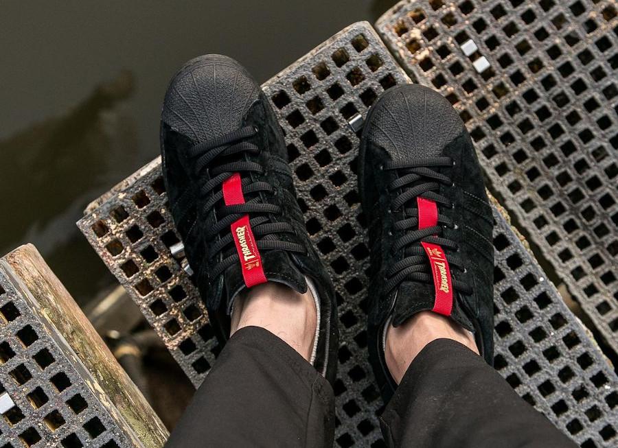 Adidas Superstar ADV en daim noir FY9025 (5-2)
