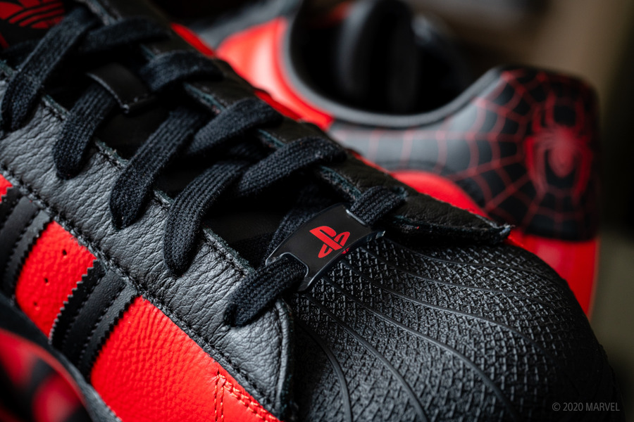 Adidas Superstar homme araignée rouge et noir (9)
