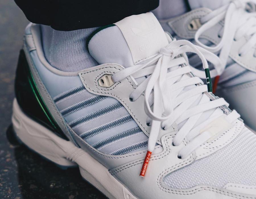 Adidas ZX 5000 AZ-X blanche orange et verte on feet (3)