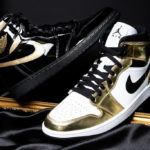 Air Jordan 1 Mid SE White Metallic Gold