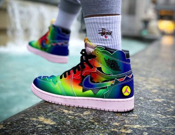 Air Jordan 1 Retro J. Balvin Rainbow Multicolor DC3481 900
