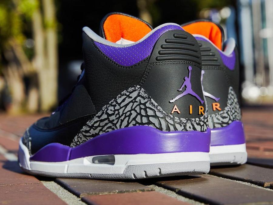 Air Jordan III Retro 2020 noire violet et orange (5)