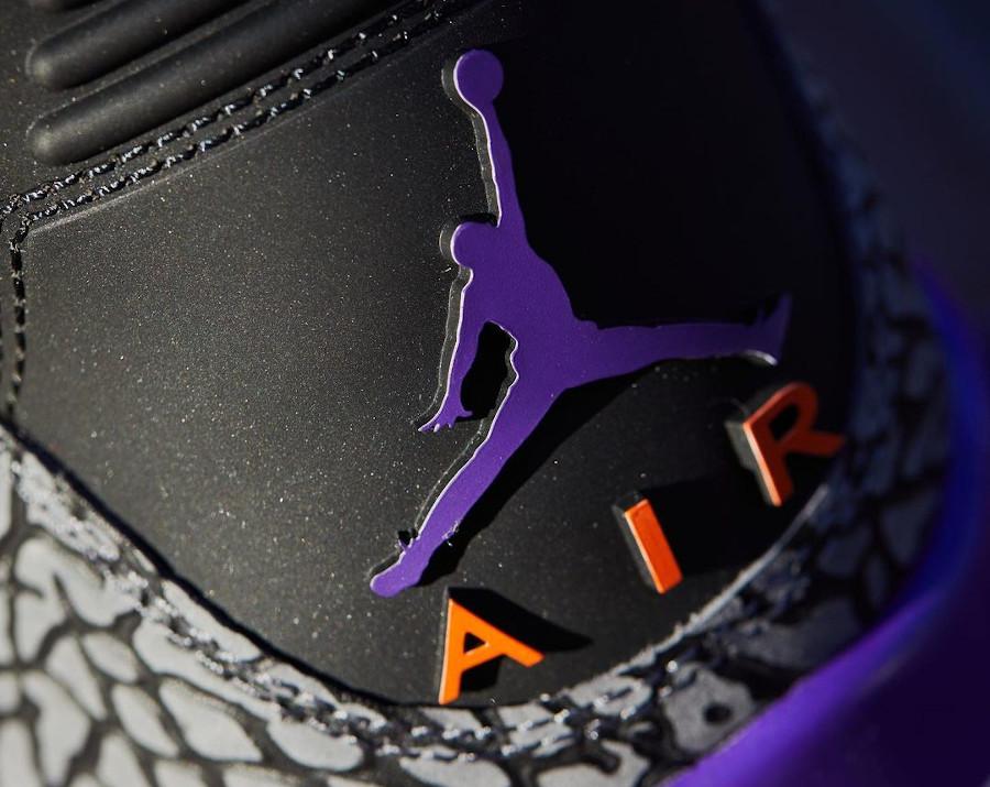 Air Jordan III Retro 2020 noire violet et orange (7)