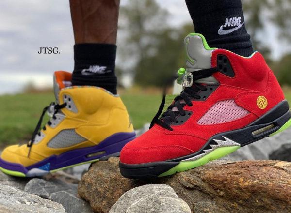 Air Jordan V What The on feet (1)