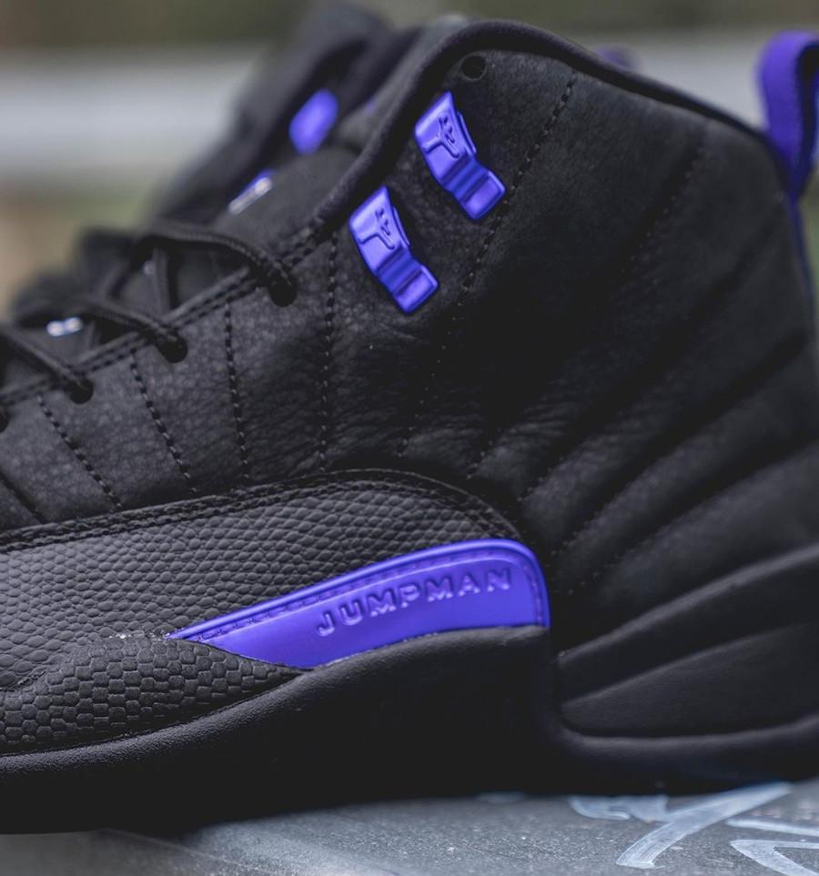 Air Jordan XII Retro 2020 noir et violet (3)