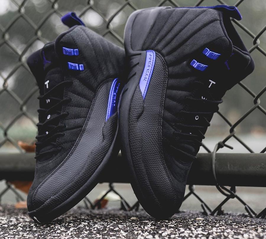 Air Jordan XII Retro 2020 noir et violet (4)