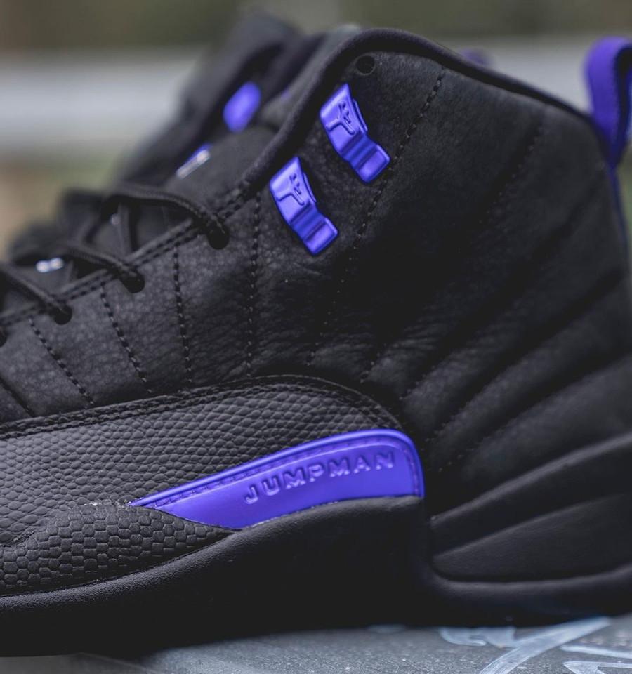 Air Jordan XII Retro 2020 noir et violet (5)