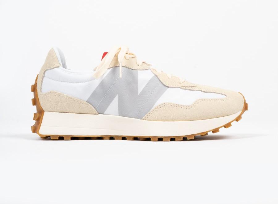 New Balance 327 2020 beige blanche et grise (3)