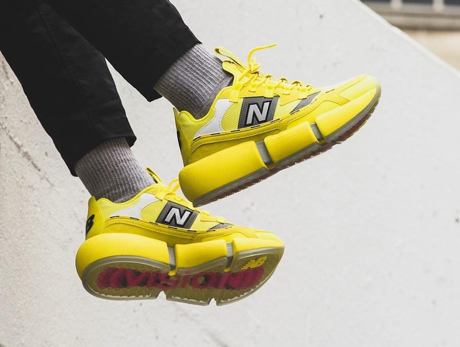 New Balance Vision Racer plateforme jaune (3)
