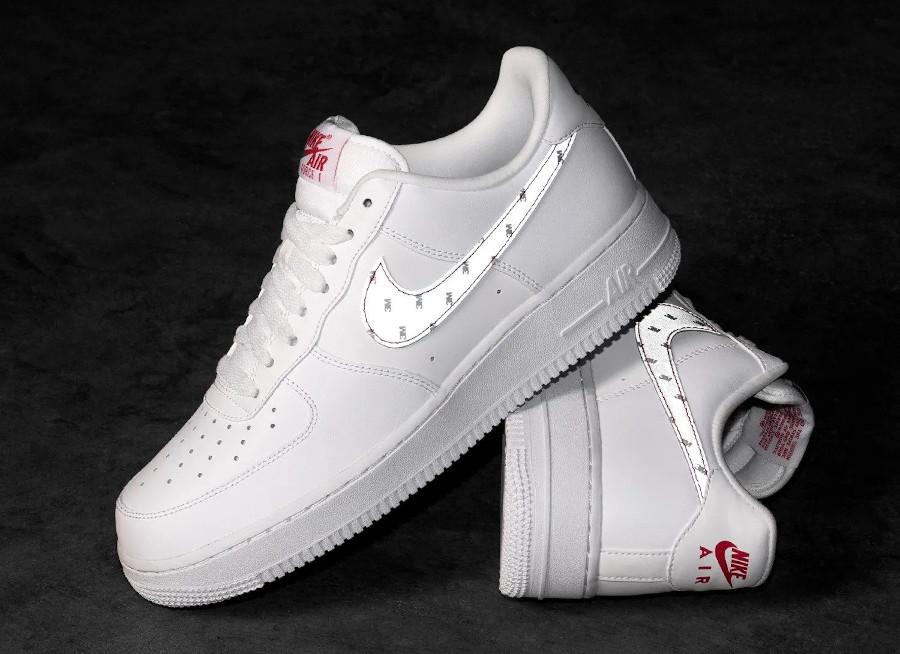 Nike AF1 '07 2020 blanche et réfléchissante (2)