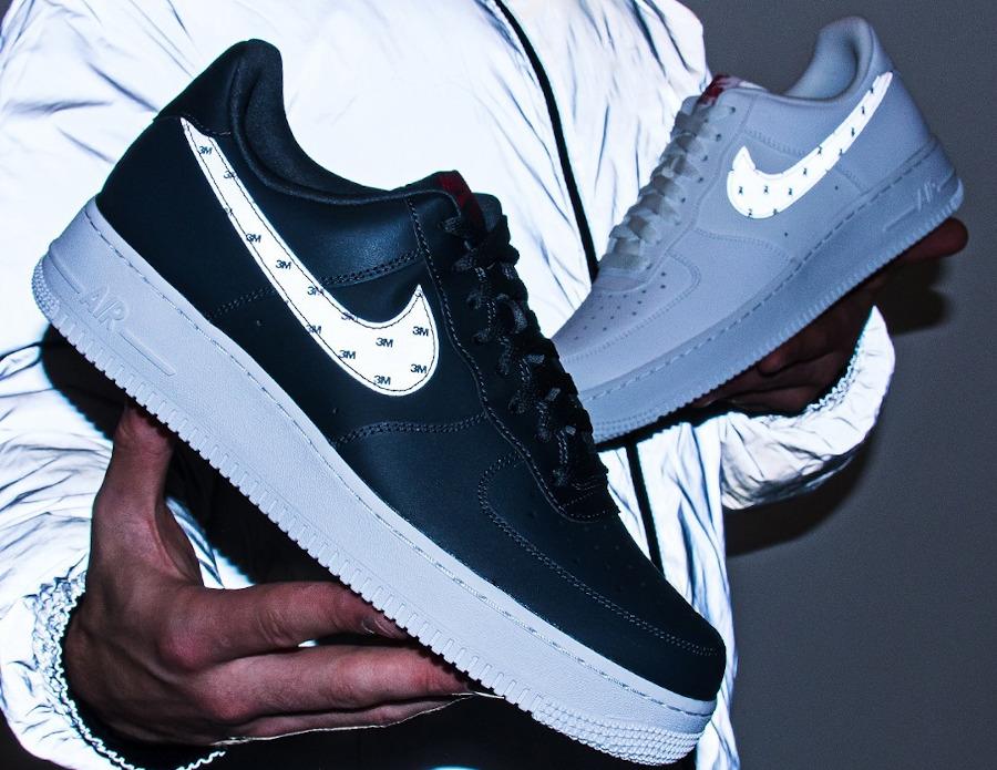Nike AF1 '07 2020 blanche et réfléchissante (3)