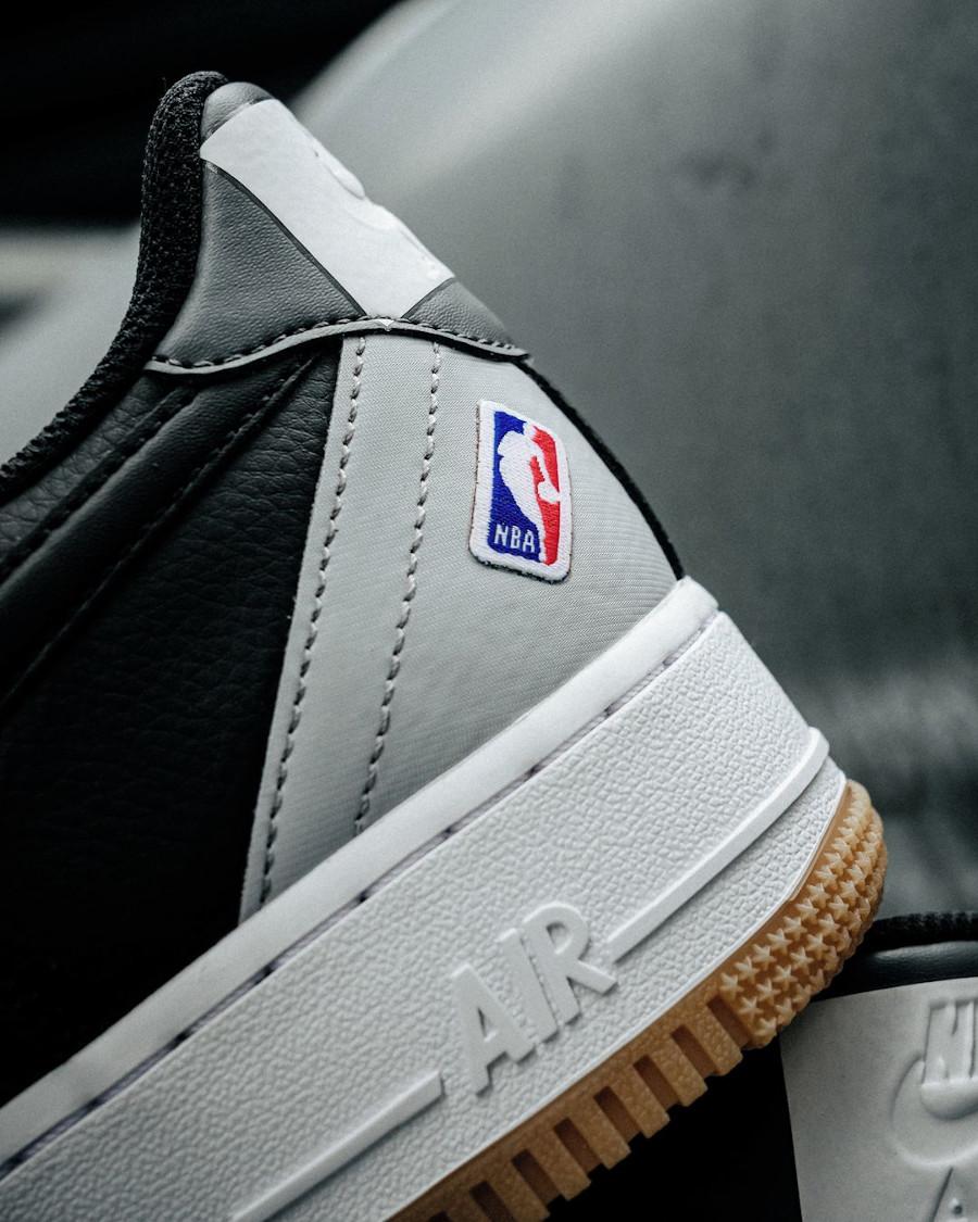 Nike AF1 '07 LV8 NBA 2020 noire et grise (4)