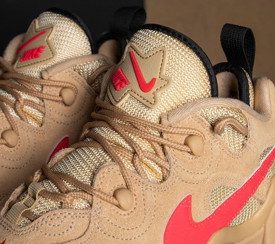 Nike Air Barrage Low en suède marron beige et rose (1)