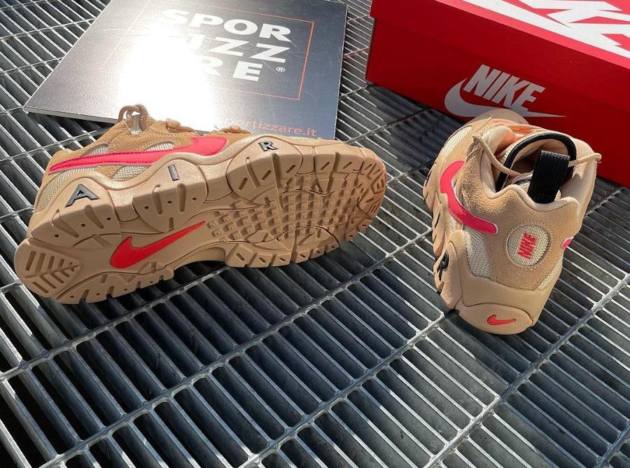Nike Air Barrage Low en suède marron beige et rose (4)