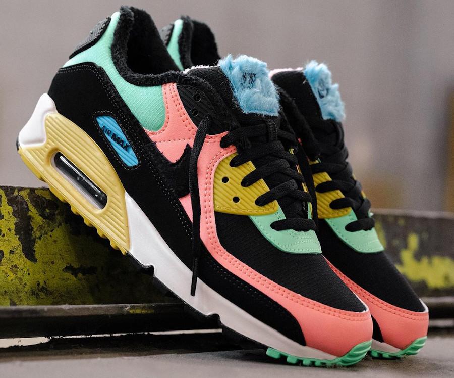Nike Air Max 90 PRM Fur Multicolor Atomic Pink CT1891-600