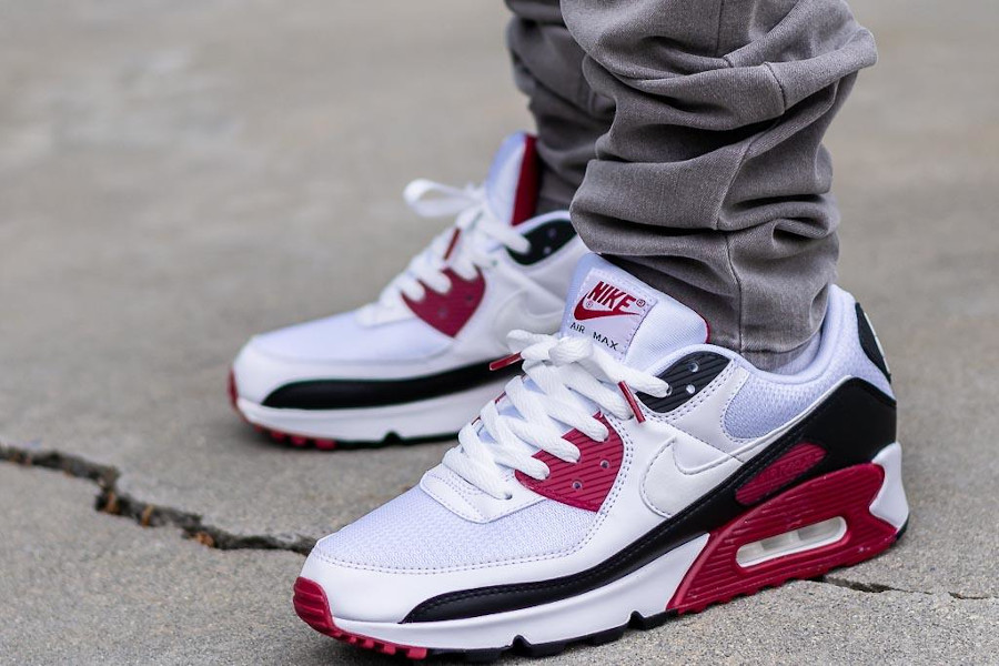 Nike Air Max 90 Recraft New Maroon pas cher