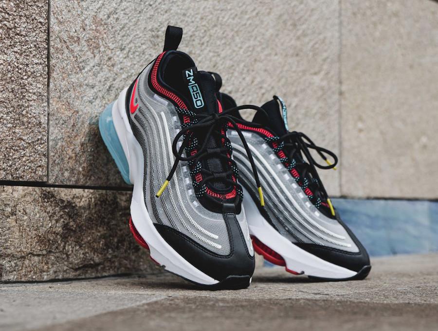 Nike Air Max Zoom 950 blanche noire grise et rouge (4)