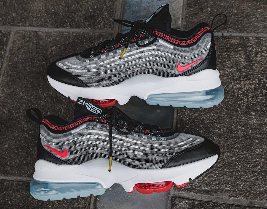 Nike Air Max Zoom 950 blanche noire grise et rouge (7)