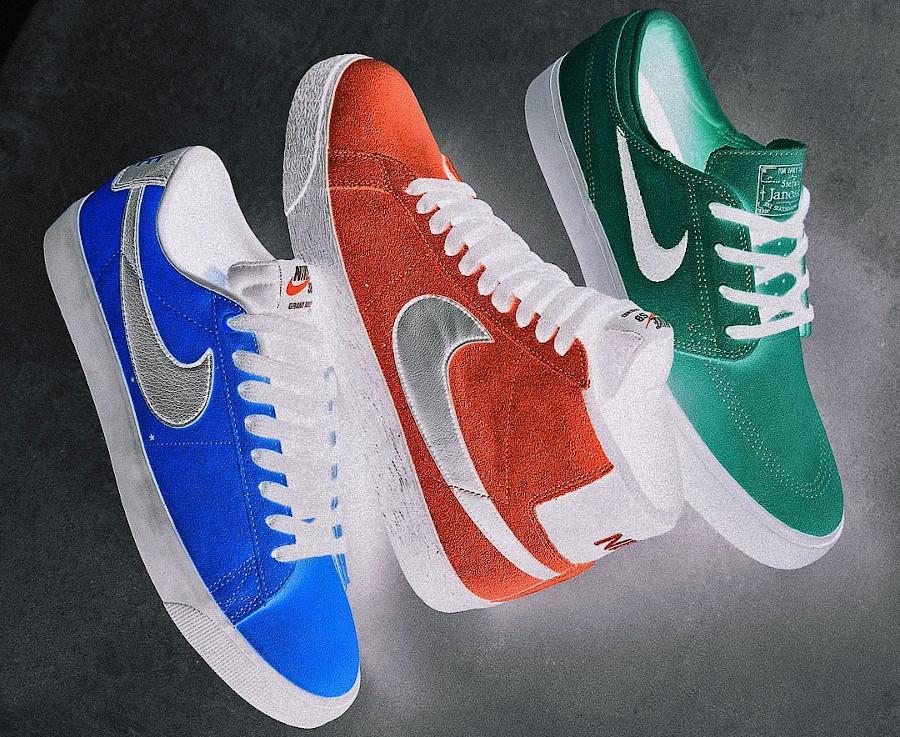 Nike Blazer Mid SB couleurs inversées