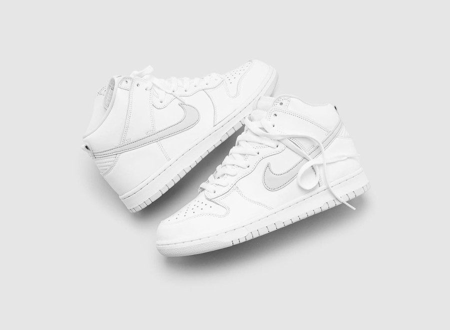 Nike Dunk Hi blanche 2020 (3)