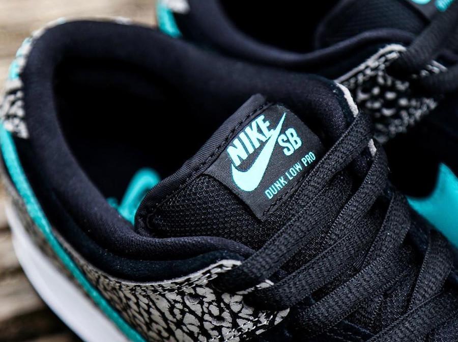 Nike Dunk Low Pro SB 2020 blanche noire et bleu turquoise (2)