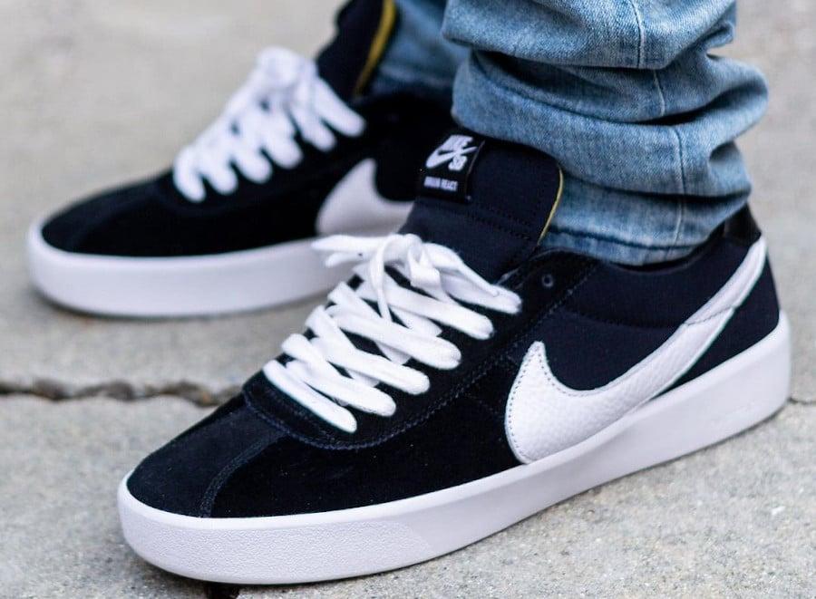 Nike SB Bruin React Black White pas cher