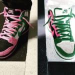 Nike Dunk High Pro SB 'Invert Celtics' Pink Rise Lucky Green