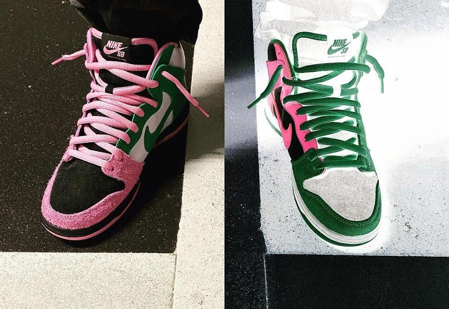 Nike SB Dunk High Pro Pink Rise Invert Celtics CU7349-001