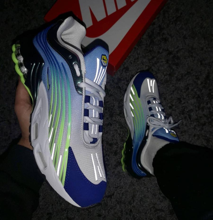 Nike Tuned II bleu violet et vert fluo (2)