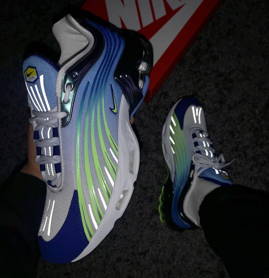 Nike Tuned II bleu violet et vert fluo (3)